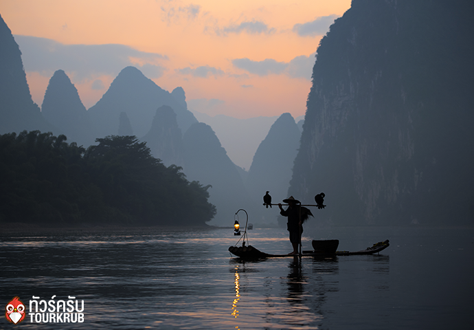 Fisherman and Cormorant in Guilin China