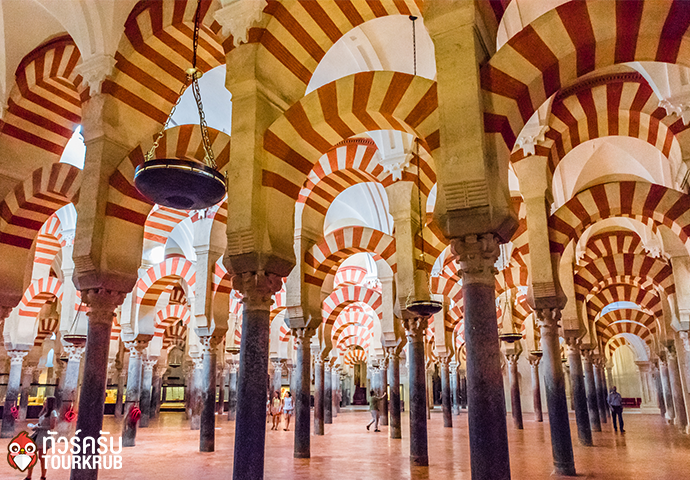 CORDOBA, SPAIN Interiors of the Mosque Cathedral of Cordoba in the Historic Centre of Cordoba.The Historic Centre of Cordoba is a UNESCO World Heritage Site.